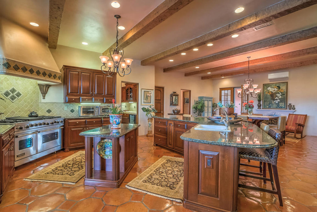 spacious gourmet kitchen