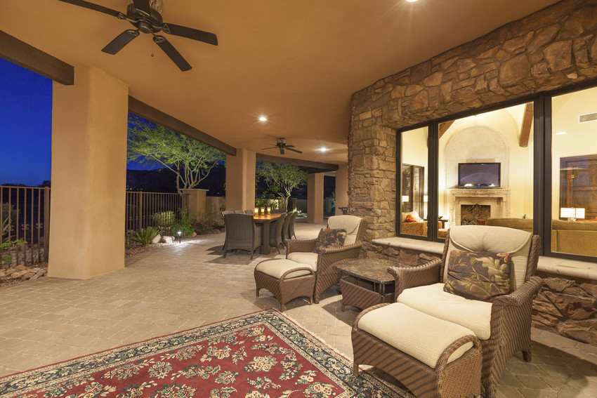 beautiful outdoor patio on a home for sale in albuquerque