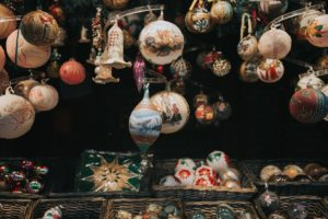 Various Christmas ornaments.