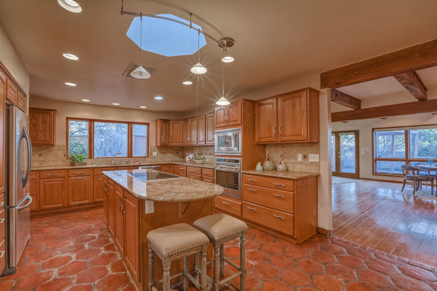 The kitchen at 6504 Avenida La Cuchilla.