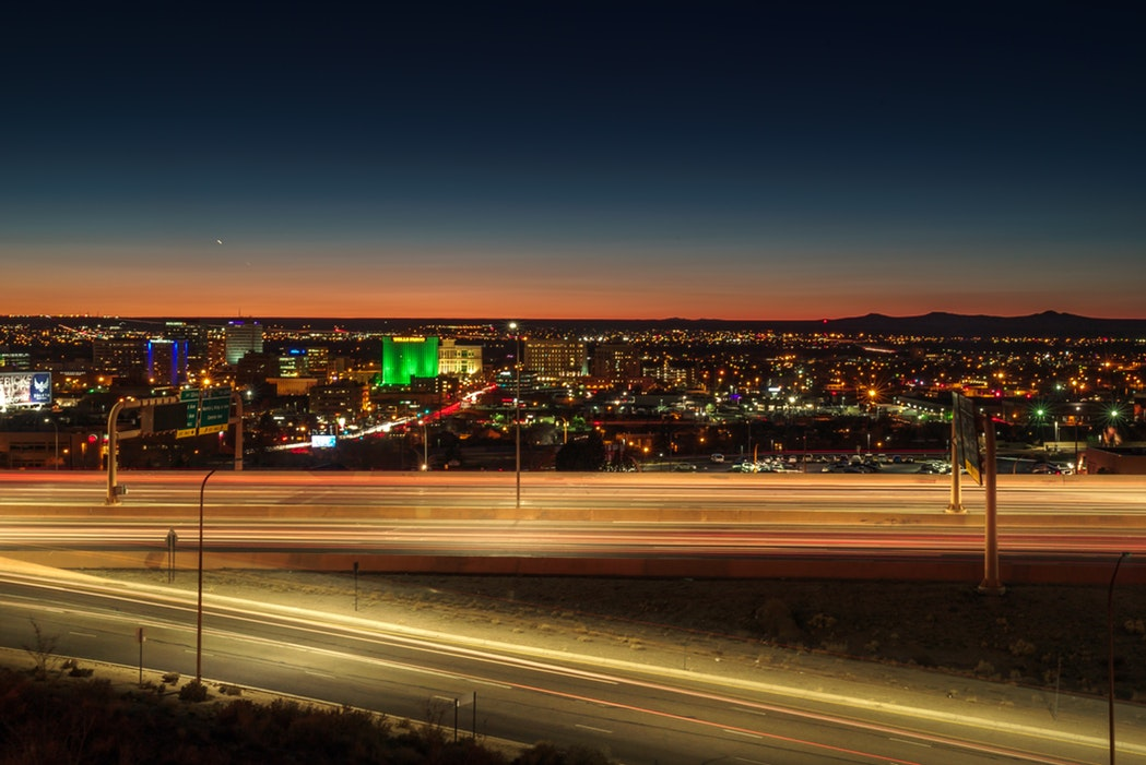 Albuquerque at night.