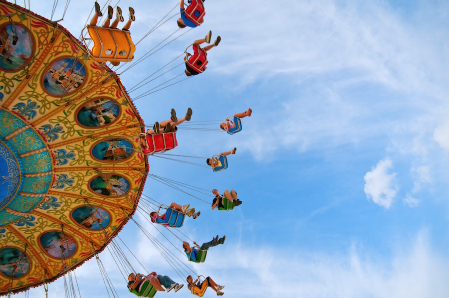 People enjoying a ride at the State Fair, one of the top Santa Fe and Albuquerque Events